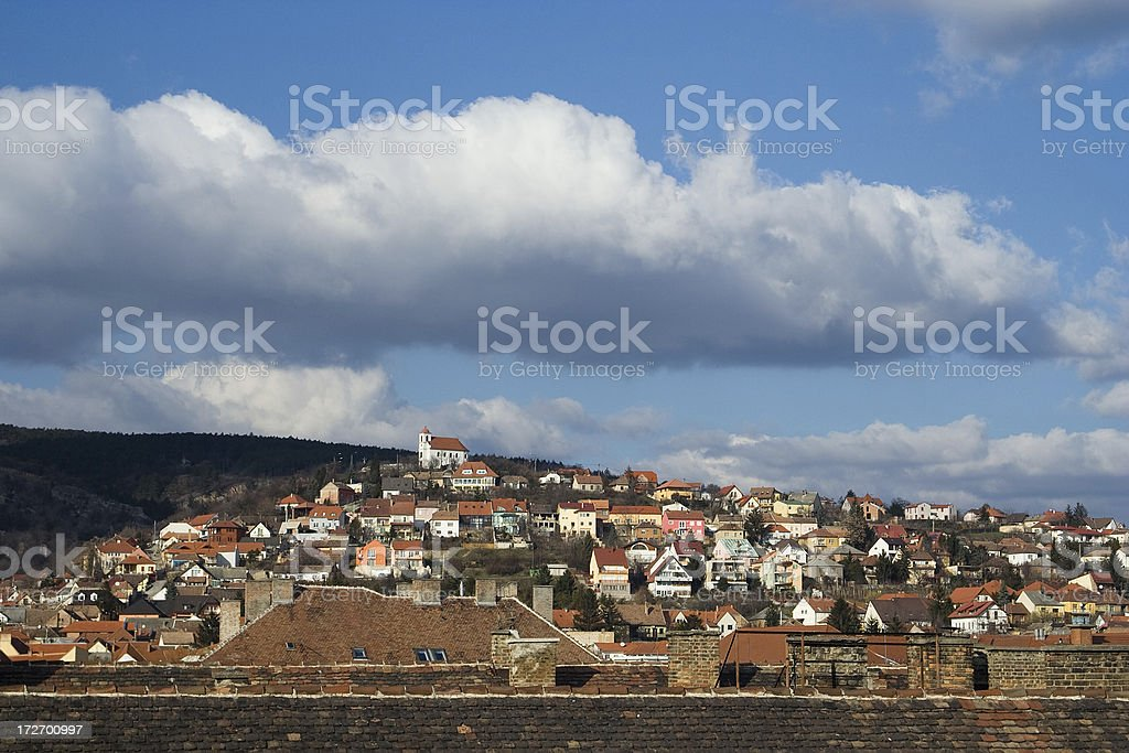 church over the city royalty-free stock photo
