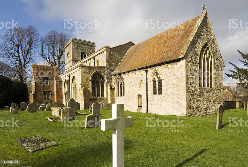 Church Oxfordshire, England royalty-free stock photo