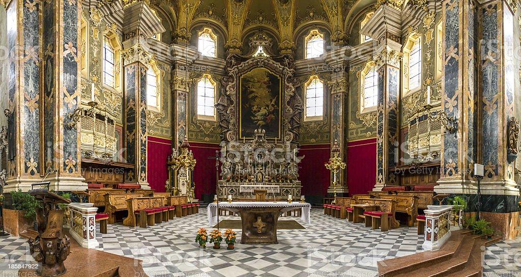 Church panorama stock photo