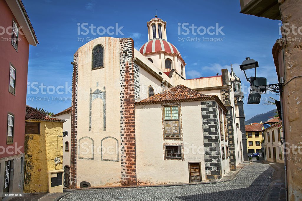 Church Parroquia de La Concepcion in Orotava, Tenerife,  Spain. stock photo