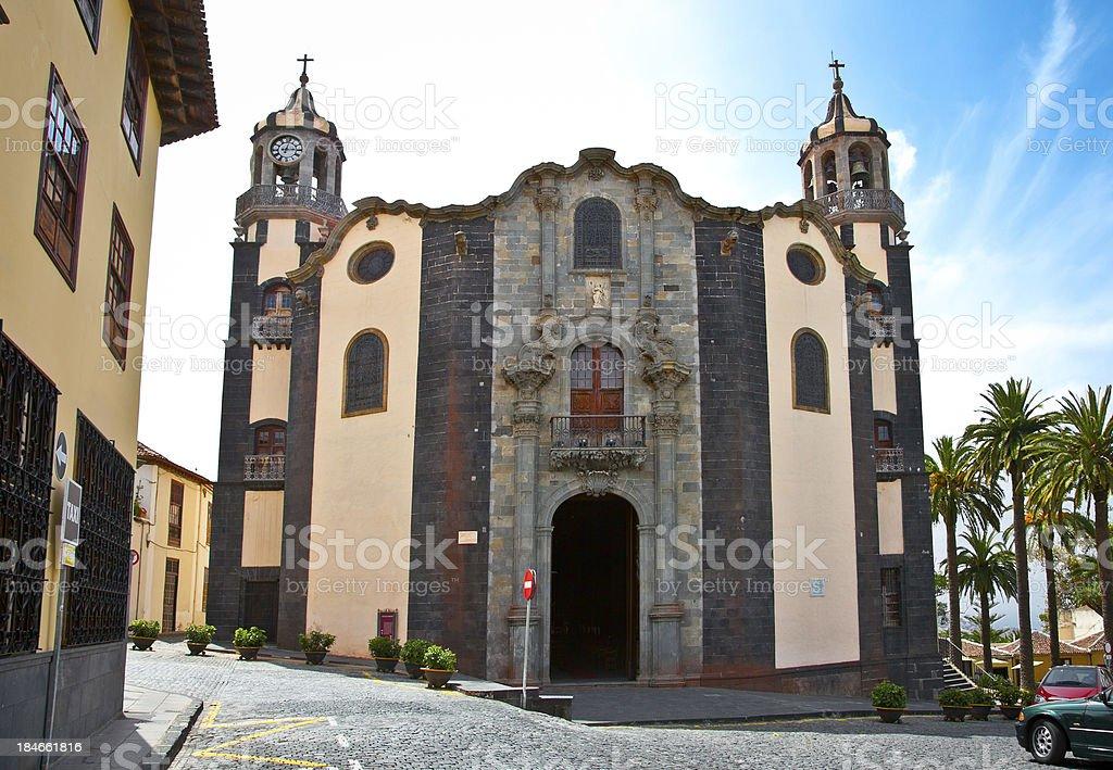 Church Parroquia de La Concepcion in Orotava, Tenerife,  Spain. stock photo