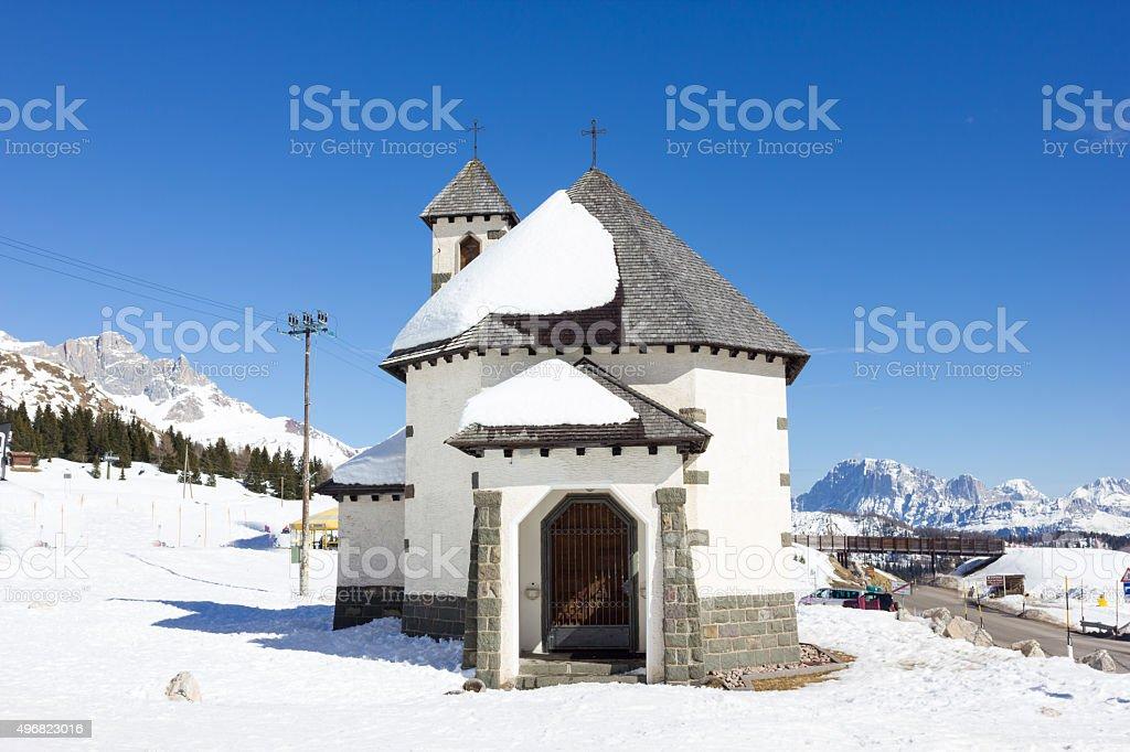 Church Passo San Pellegrino stock photo