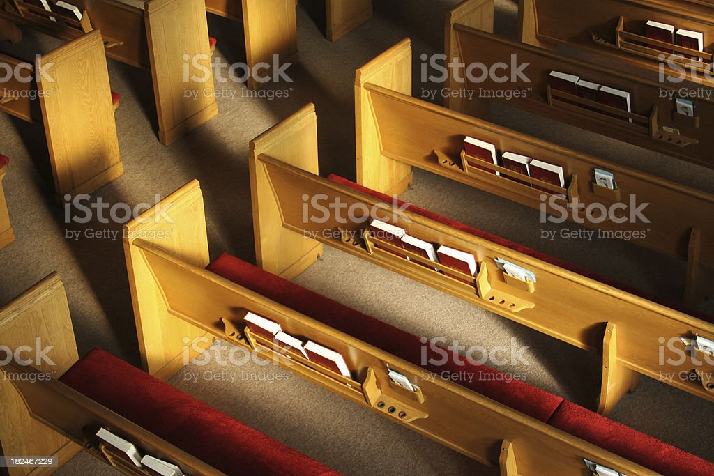 Church Pews royalty-free stock photo