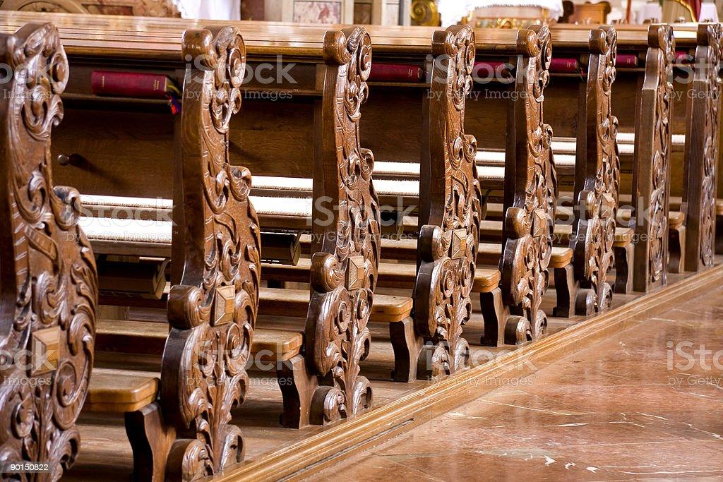 Церковь Pews Стоковые фото Стоковая фотография
