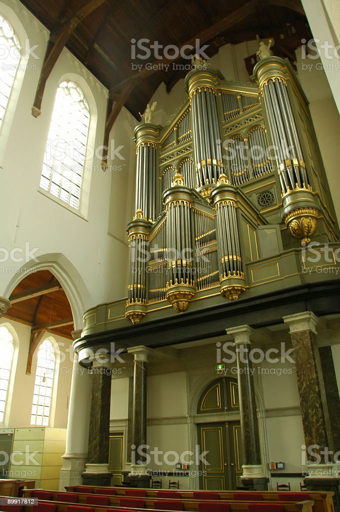 Church Pipe Organ royalty-free stock photo