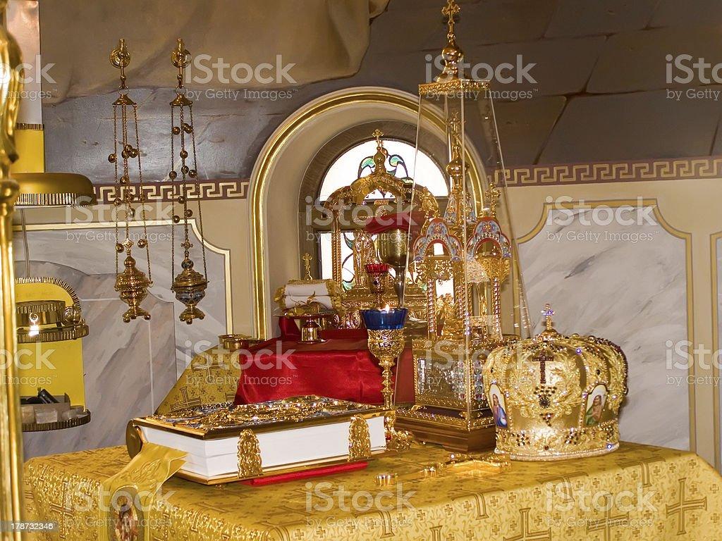 Church plate. royalty-free stock photo