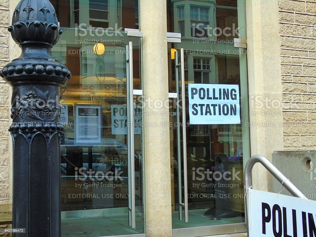 Church Polling Station 2016 stock photo