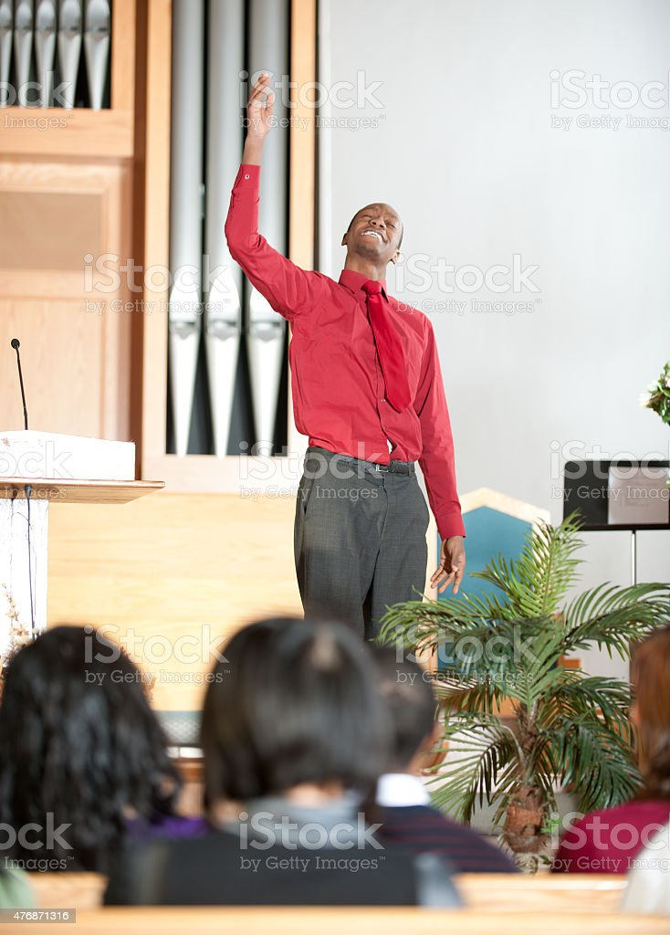 Church Praise stock photo