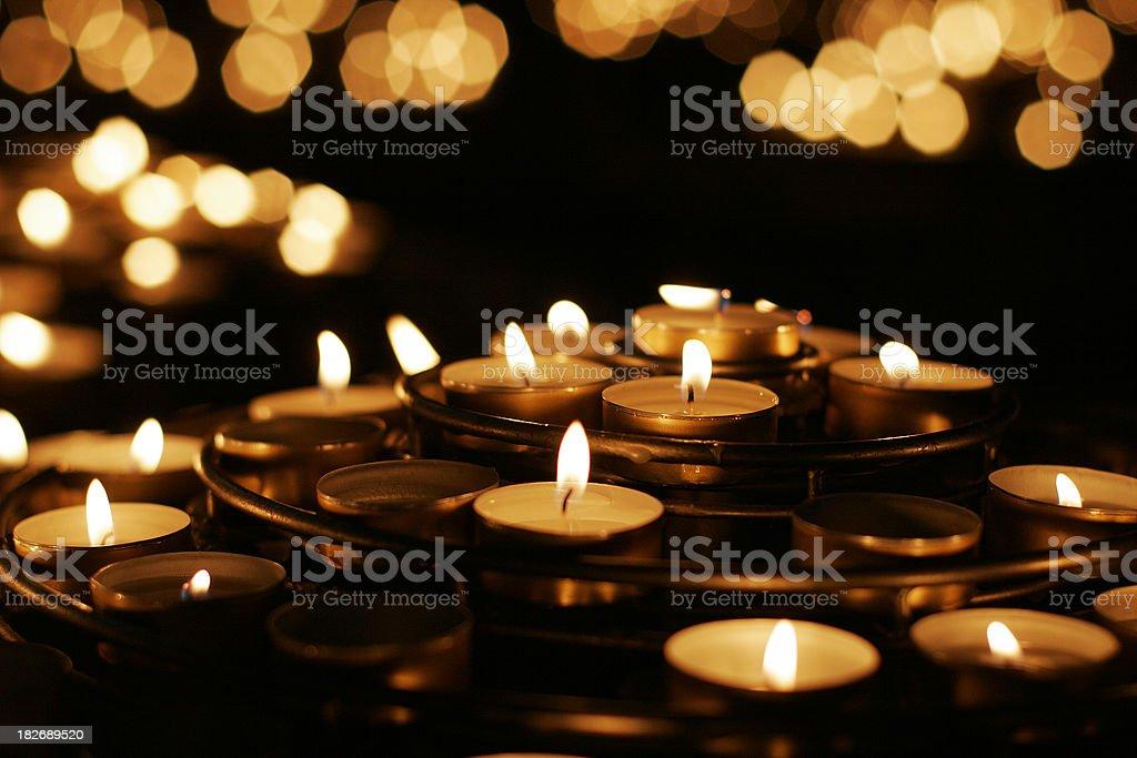 Church prayer candles royalty-free stock photo