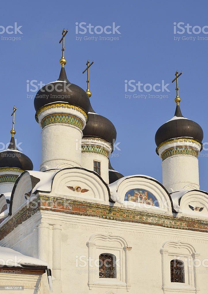 Church Protection of Theotokos in Brattsevo royalty-free stock photo