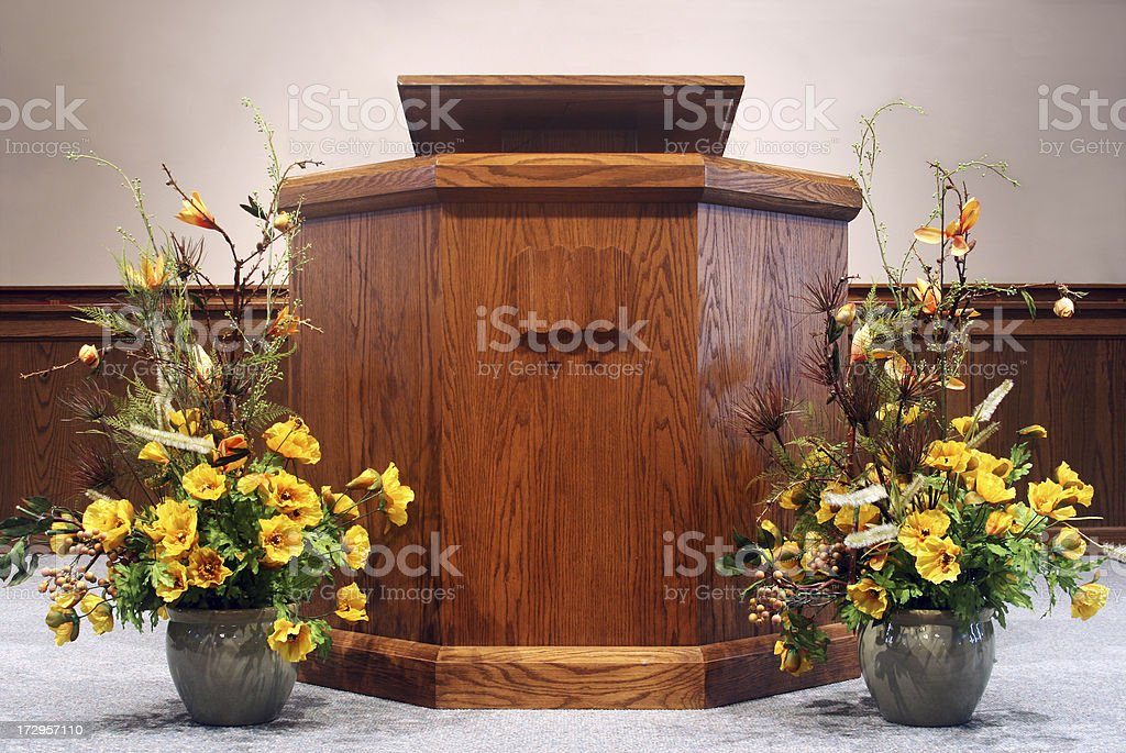 Church pulpit. stock photo