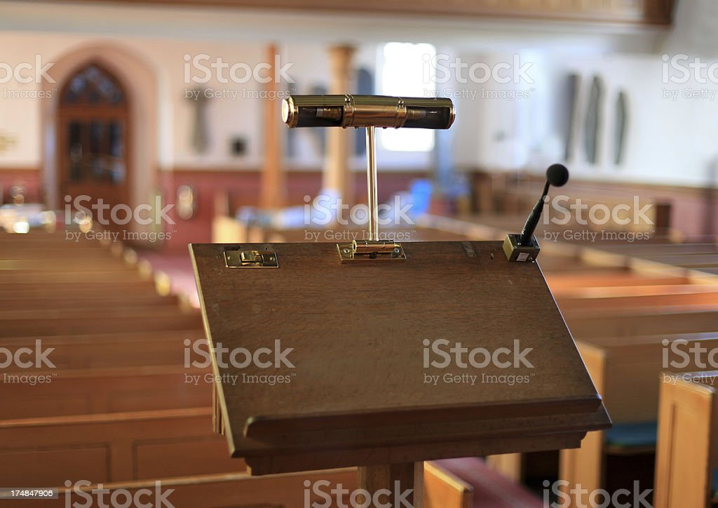 Church Pulpit stock photo