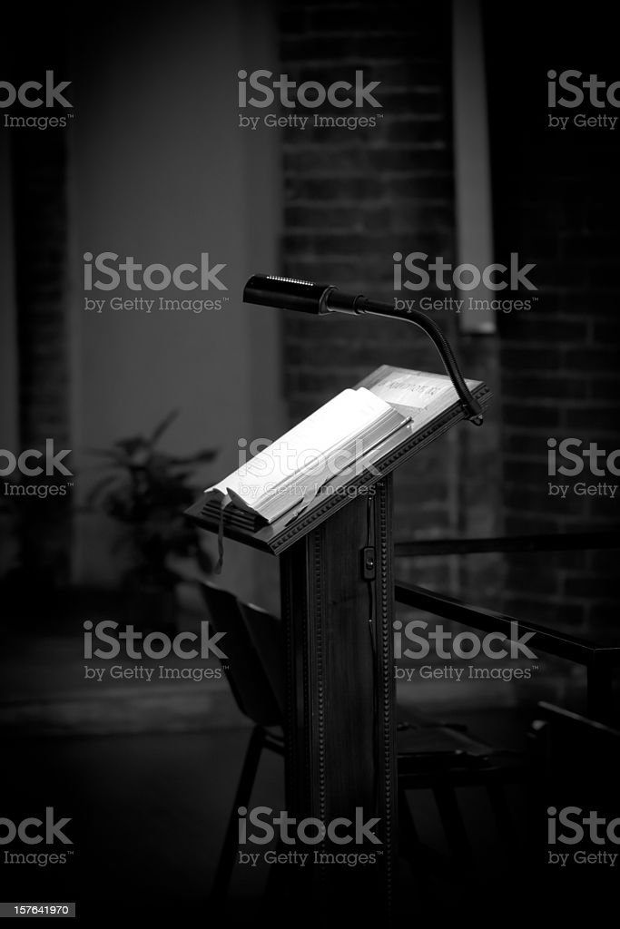 Church Pulpit, Toned Image stock photo