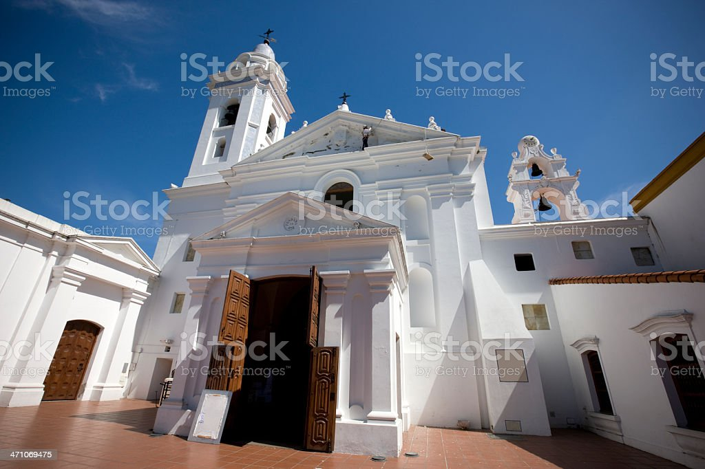 Church Recoleta Buenos Aires royalty-free stock photo