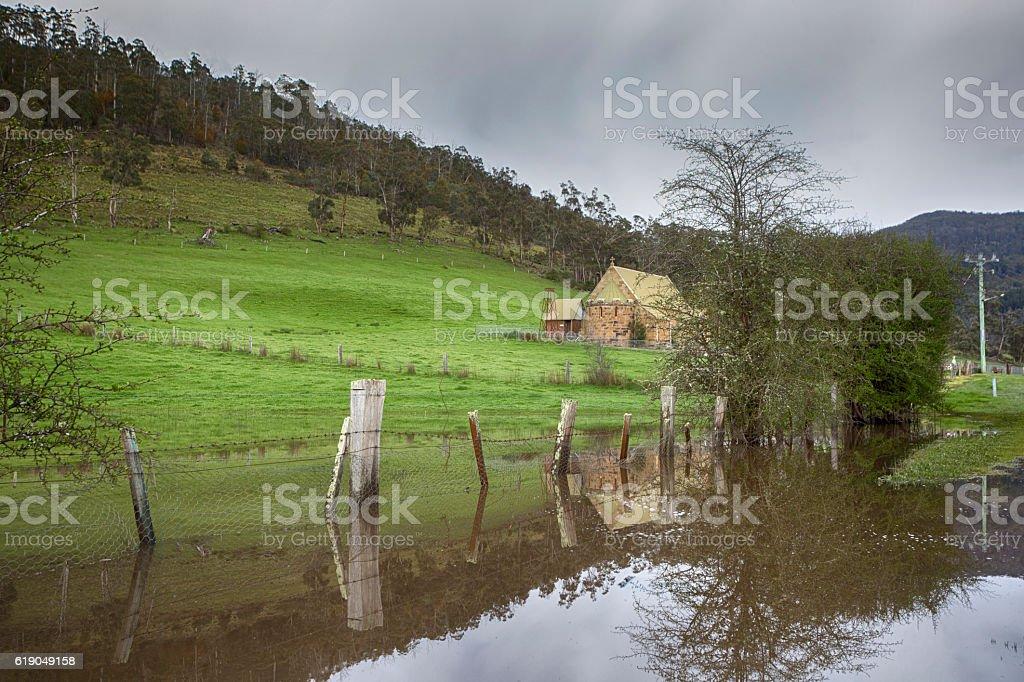 Church Reflections stock photo