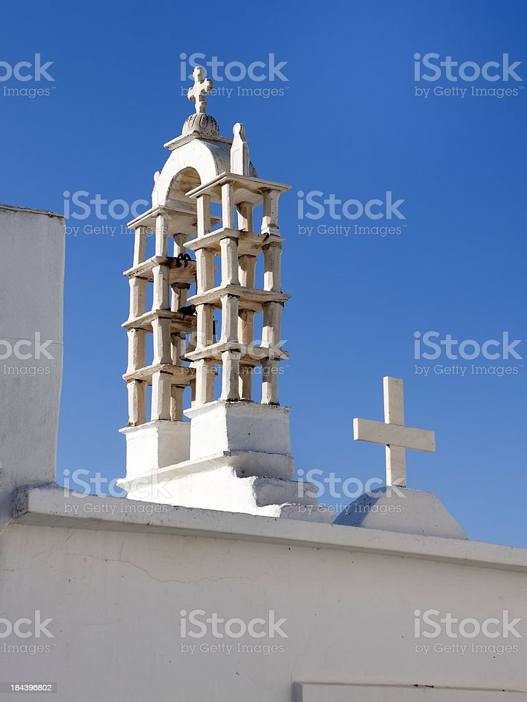 Church Roof on Paros, Greece royalty-free stock photo