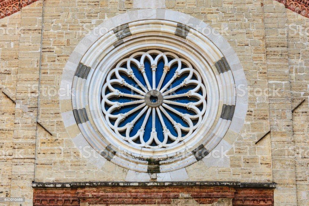 Church Rose Window, Brescia - Italy stock photo