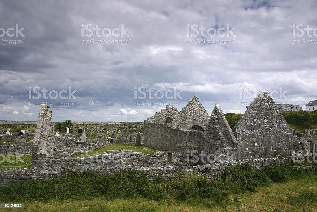 church ruin, Ireland royalty-free stock photo