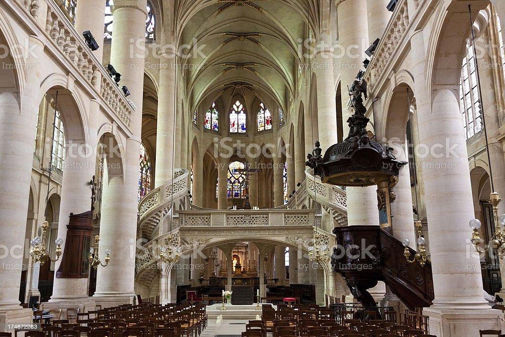 Church Saint Etienne du Mont, Paris royalty-free stock photo