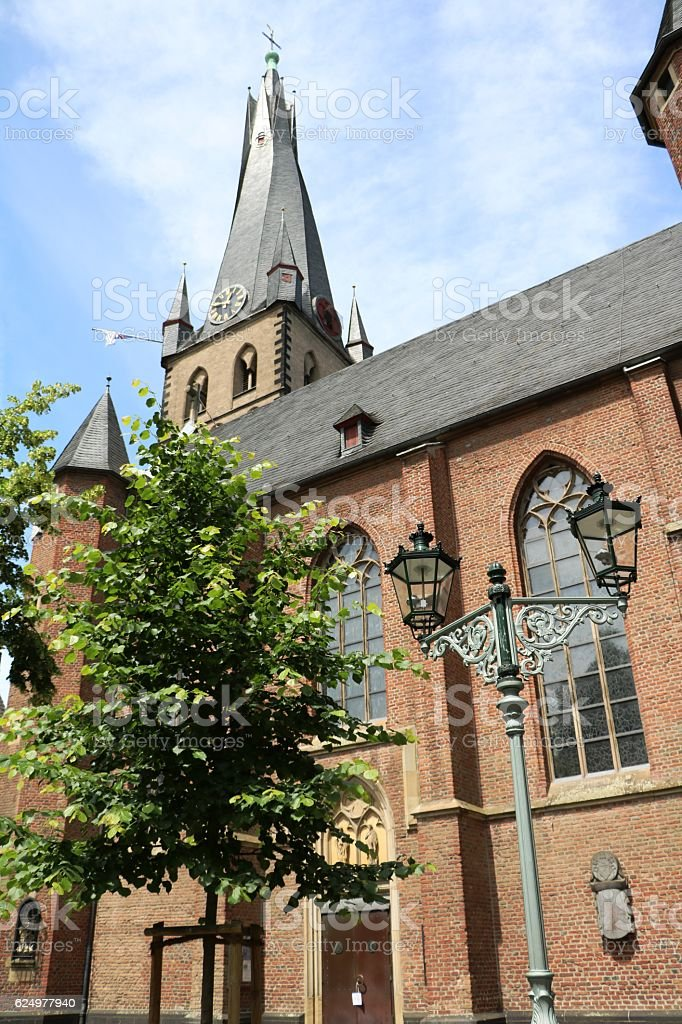 Church Saint Lambertus Roman Catholic in Düsseldorf, Germany stock photo