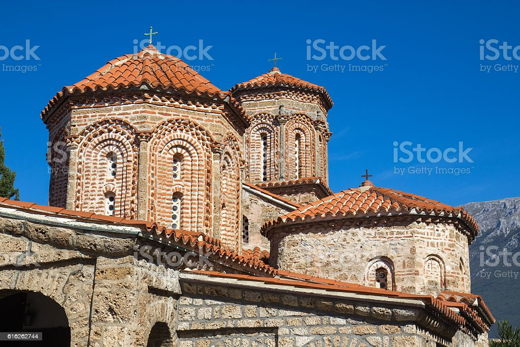 Church Saint Naum, Ohrid lake, FYRM (Macedonia) stock photo