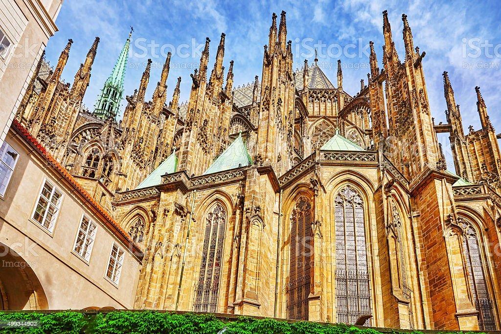 Church Saint Vitus, Ventseslaus and Adalbert . stock photo