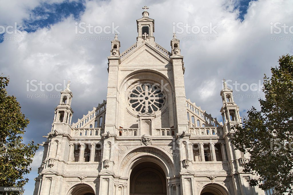 Church Sainte Catherine of Brussels stock photo