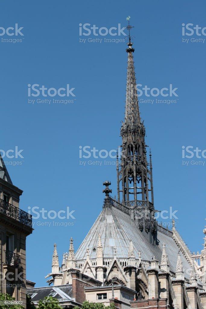 Church Sainte Chapelle in Paris stock photo