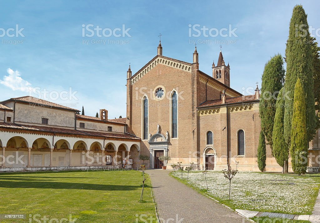Church San Bernardino in Verona stock photo