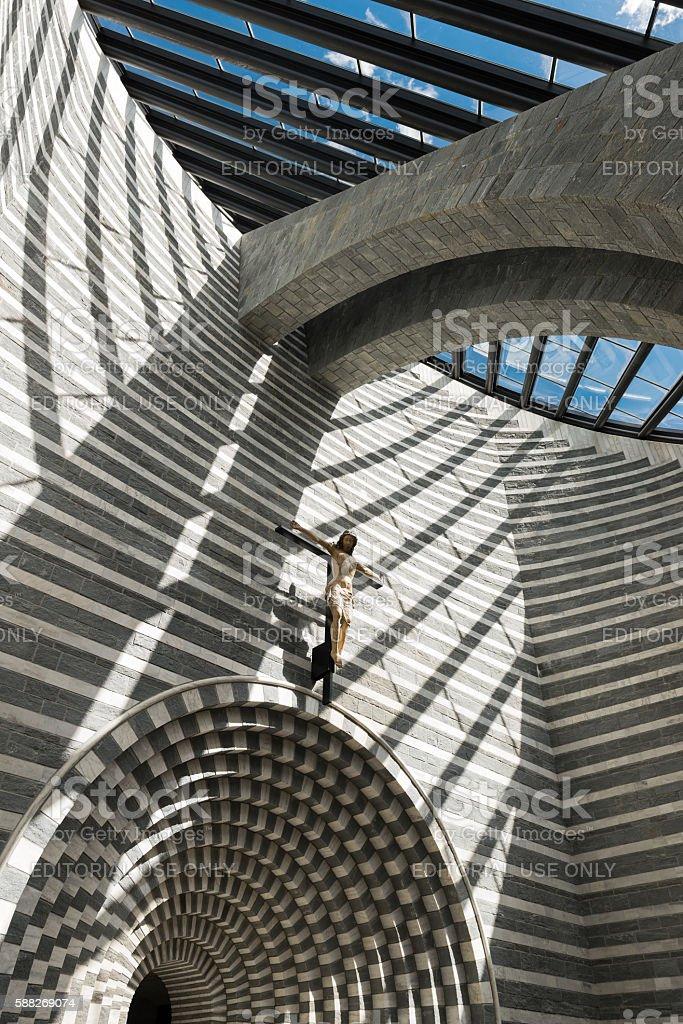 Church San Giovanni Battista by Mario Botta stock photo