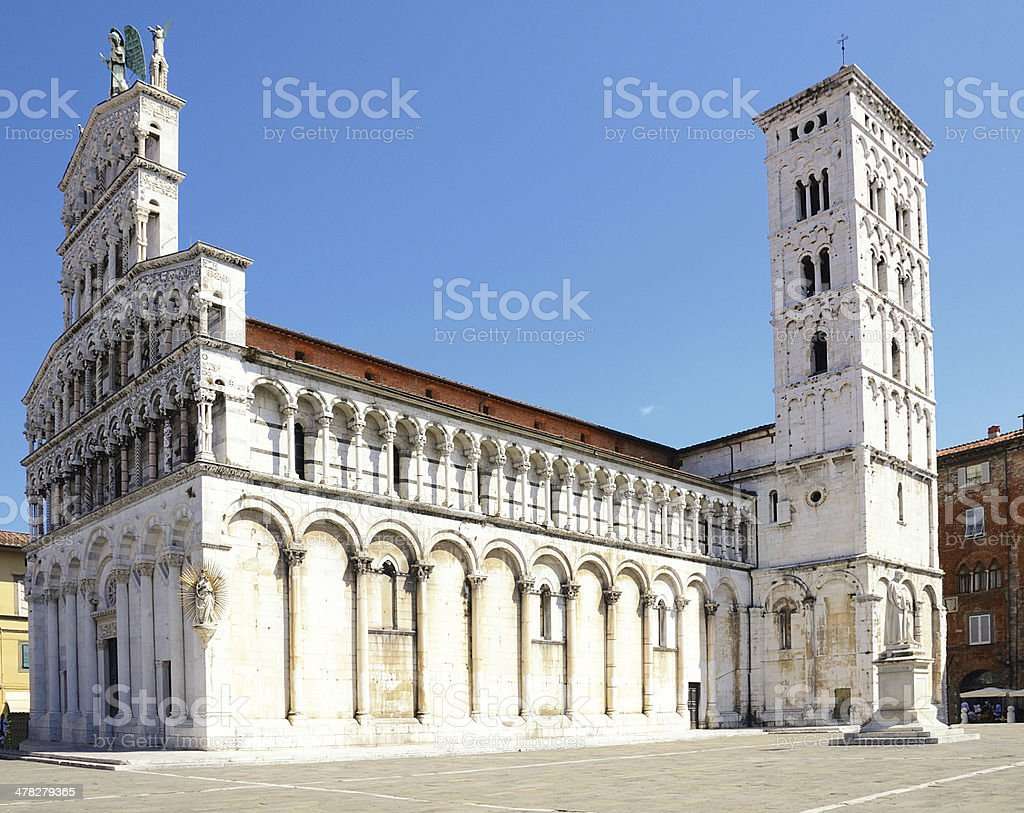 Church San Michele in Foro, Lucca, Italy stock photo