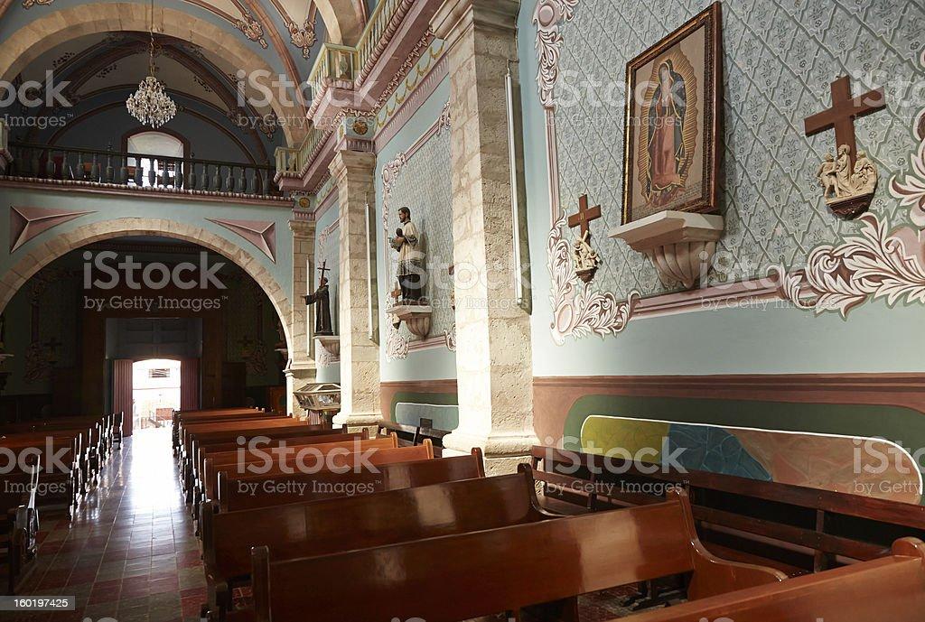Church, San Sebastian de Oeste, Sunlight Streams In royalty-free stock photo