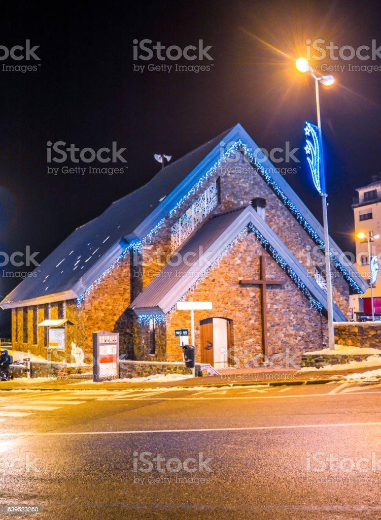Church Sant Pere del Pas de la Casa - Andorra stock photo
