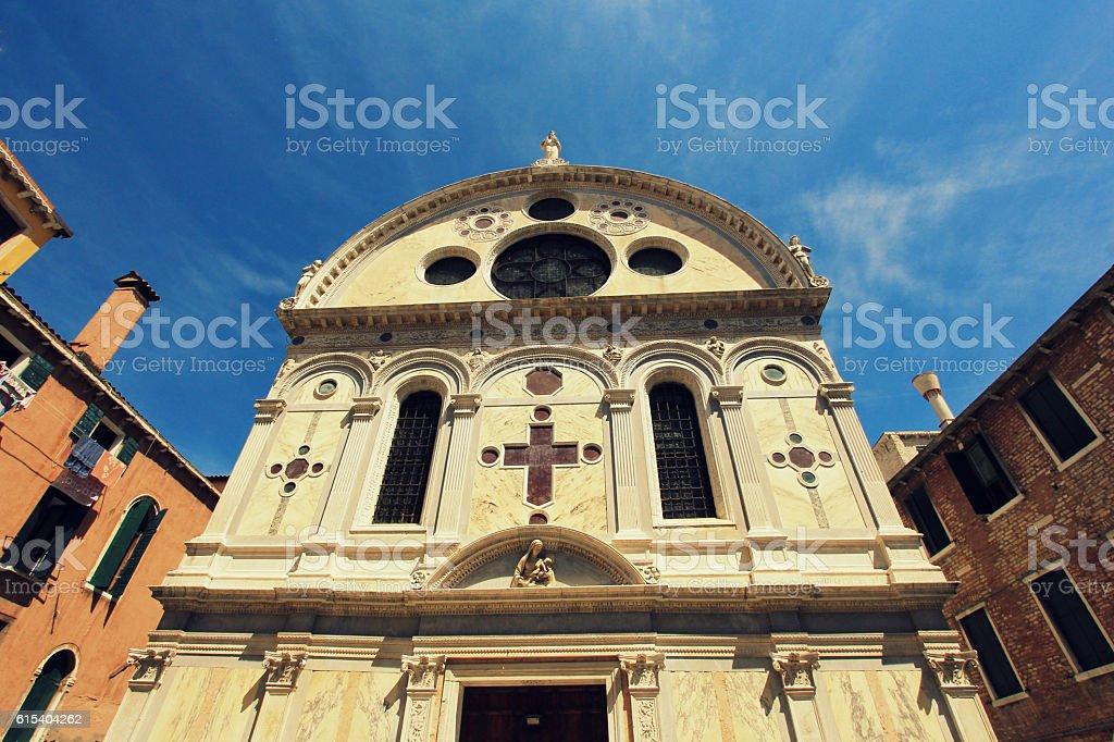 Church Santa Maria dei Miracoli, Venice, Italy stock photo