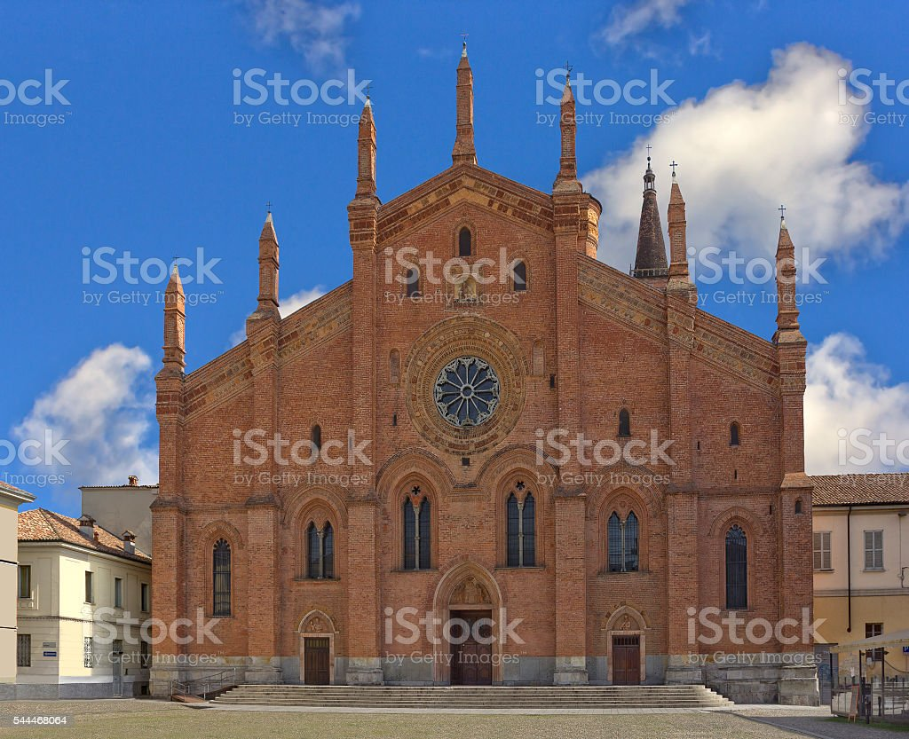 Church Santa Maria del Carmine in Pavia, Italy stock photo