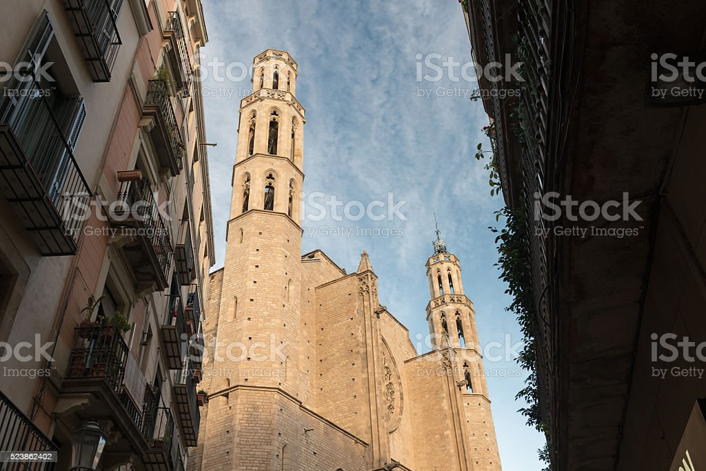 Church Santa Maria del Mar stock photo