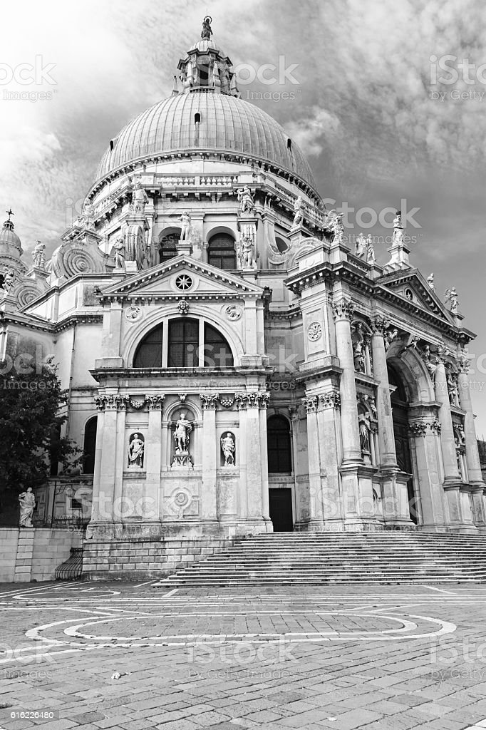 Church Santa Maria della Salute in Venice stock photo