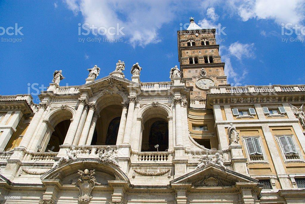 Church Santa Maria in Trastevere, rome, Italy royalty-free stock photo