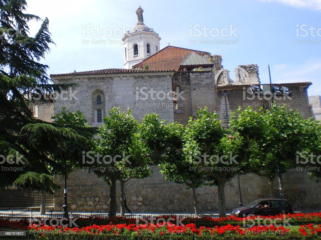 Church Santa Maria La Antigua in Valladolid stock photo