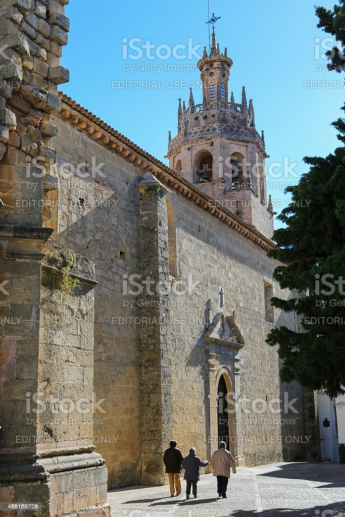 Church Santa Maria La Mayor in Ronda, Malaga province, Andalusia stock photo