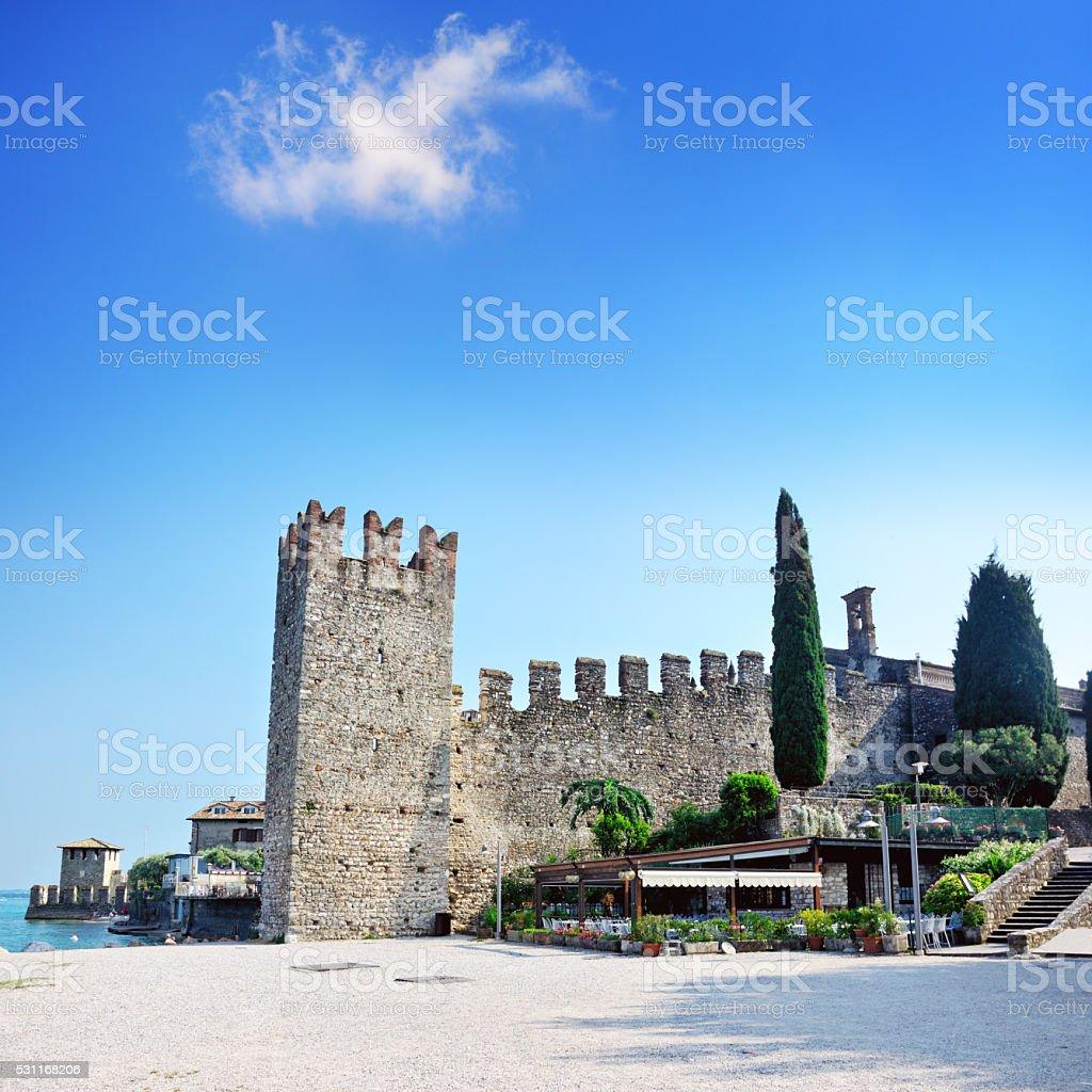 Church Santa Maria Maggiore, Sirmione stock photo