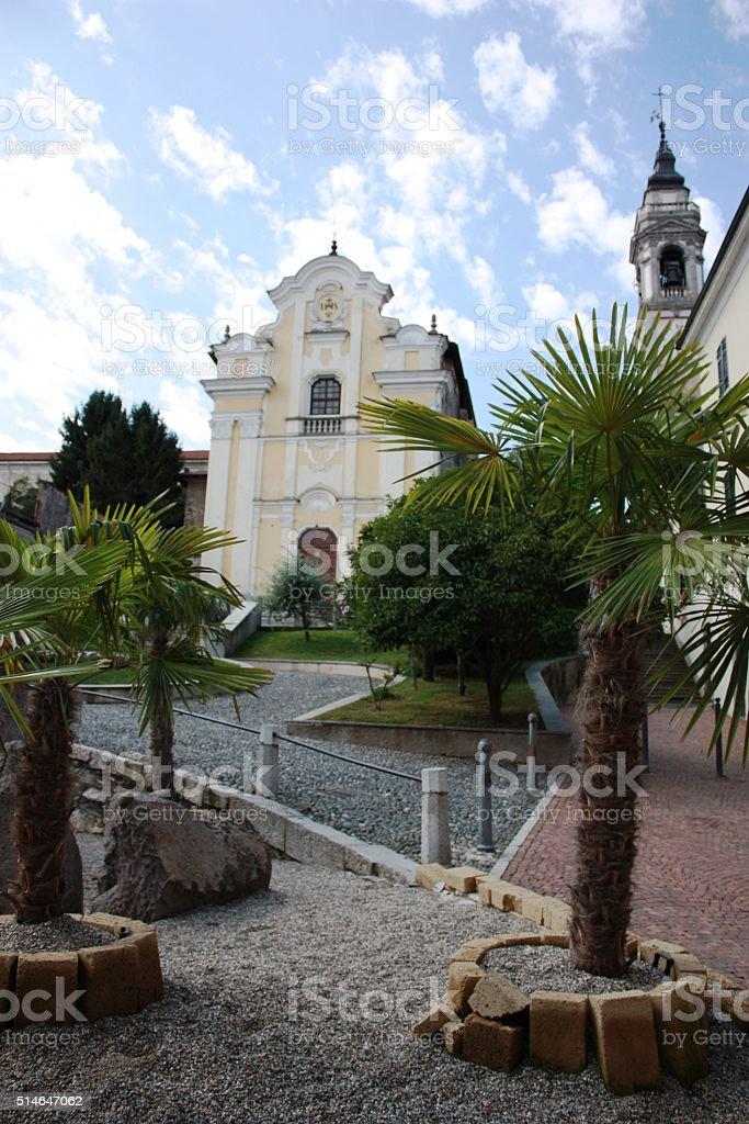 Church Santa Maria Piazza S. Graziano in Arona, Piedmont Italy stock photo