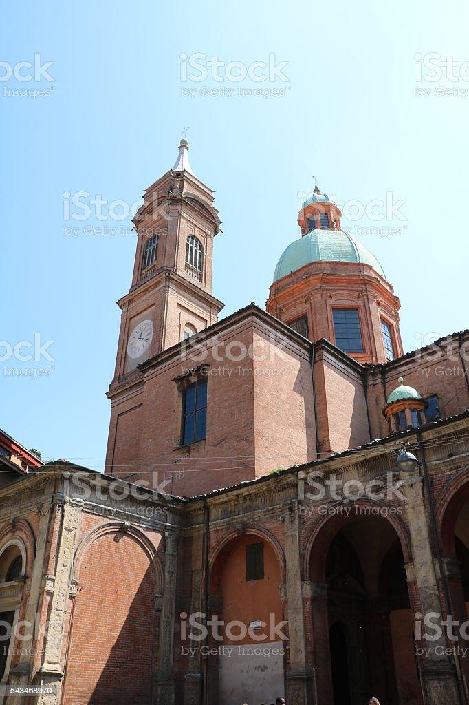 Church Santi Bartolomeo and Gaetano in Bologna Italy stock photo