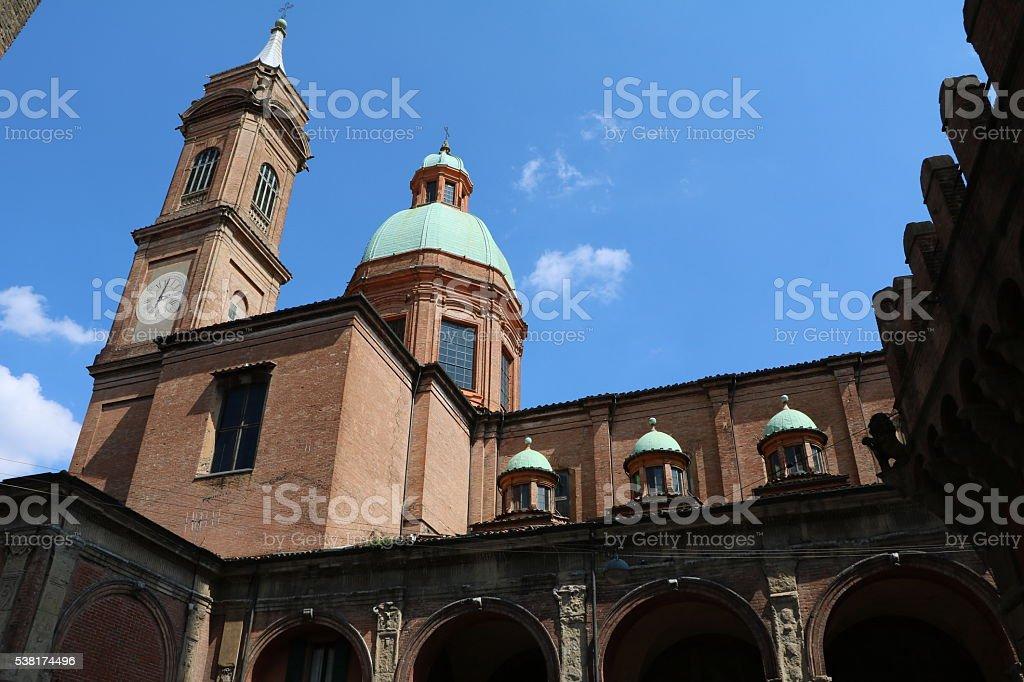 Church Santi Bartolomeo e Gaetano in Bologna Italy stock photo