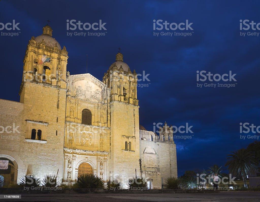 Church Santo Domingo, Oaxaca royalty-free stock photo