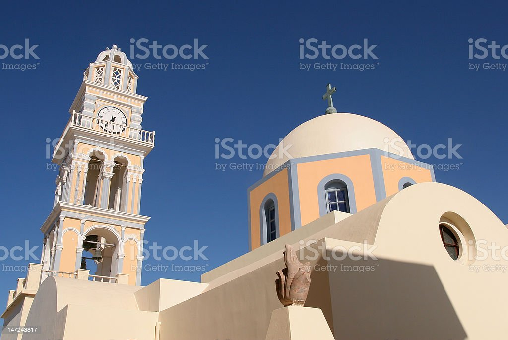 Church, Santorini Greece royalty-free stock photo