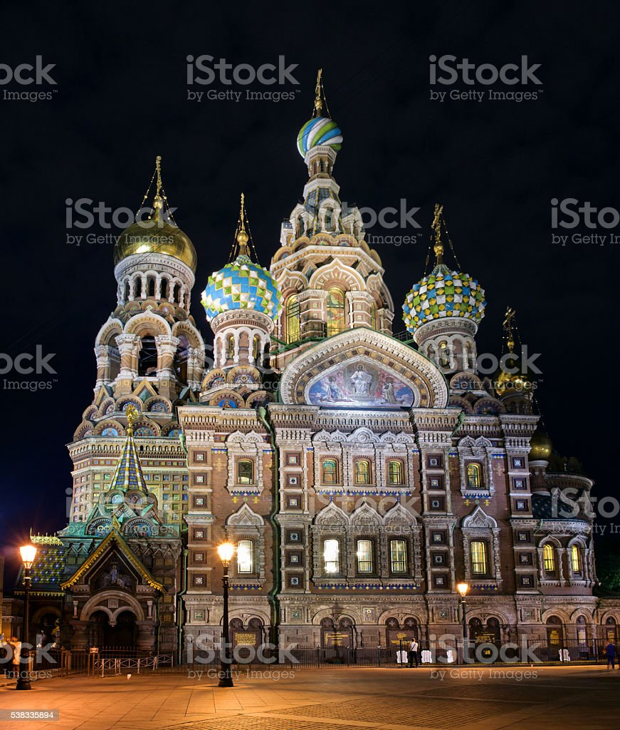 Church Saviour on Spilled Blood (Spas na Krovi), Petersburg stock photo