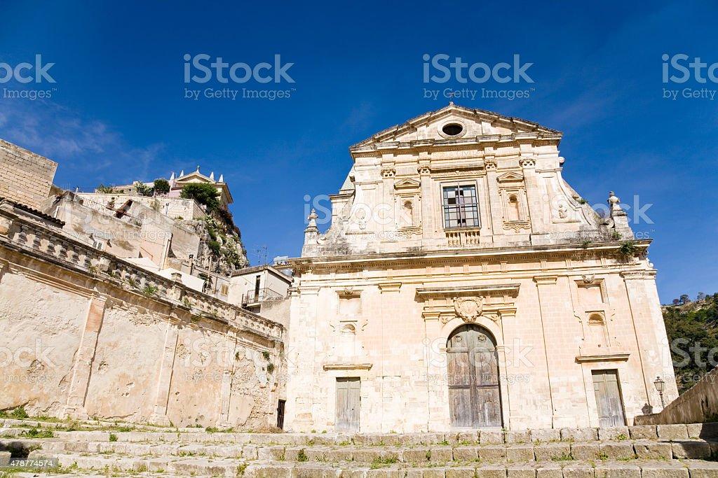 Church, Scicli, Italy stock photo