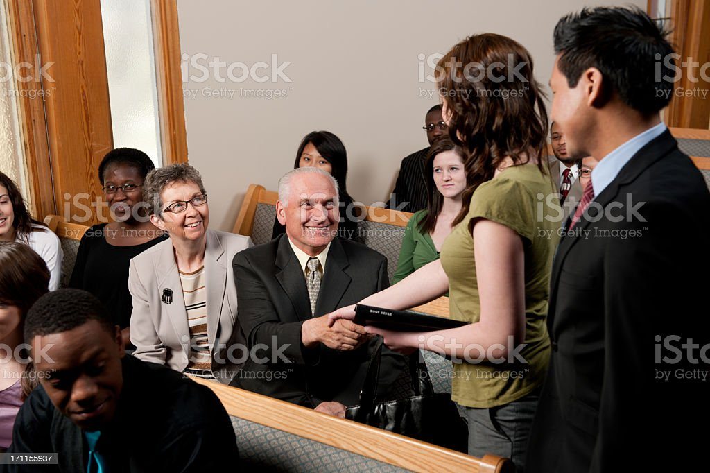 Church service stock photo