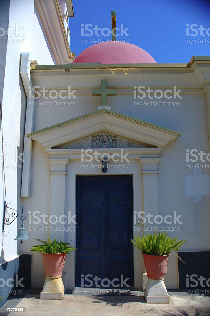 Church side door royalty-free stock photo